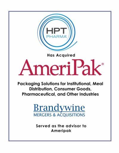HPT Pharma acquires AmeriPak