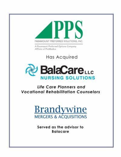 PPS acquires BalaCare Nursing Solutions LLC