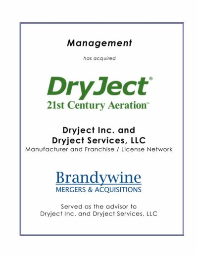 Management acquires Dryject