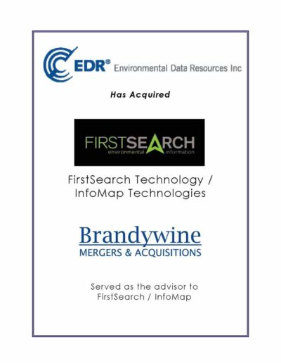 EDR acquires InfoMap Technologies